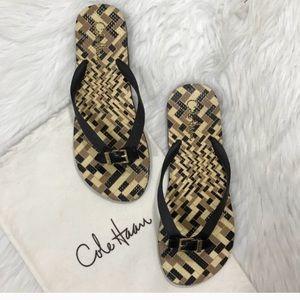 Cole Haan Black Gold Lyndsey Thong  Flip flop